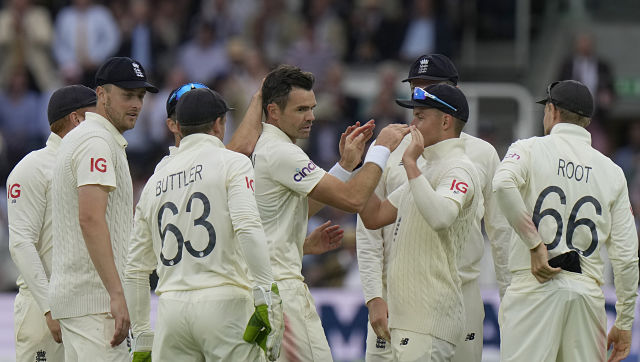 James Anderson collected his 31st five-wicket haul in Tests, with figures of 5/62. India were bowled out for 364 in the first innings. AP