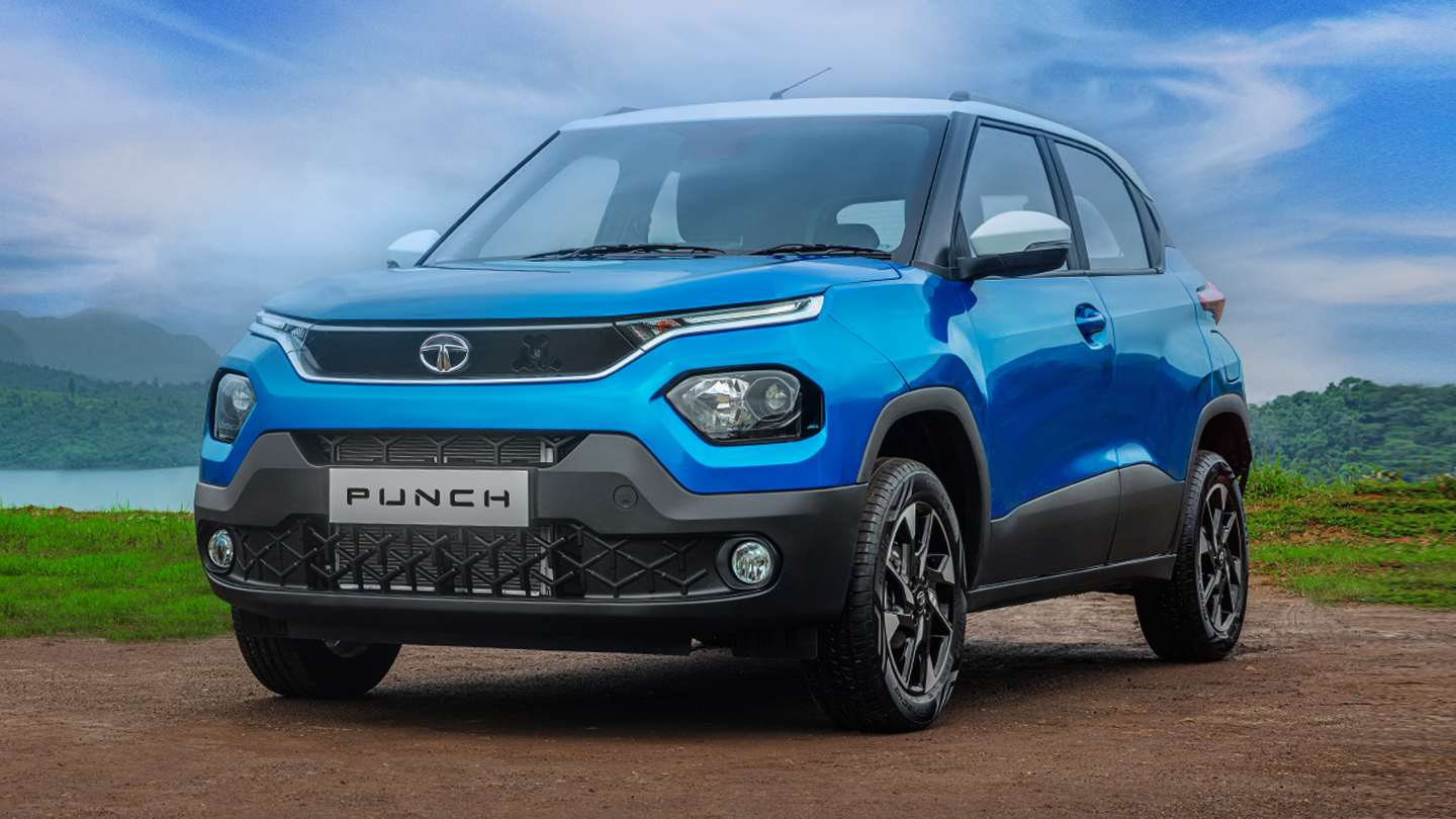 The Tata Punch mini-SUV retains most of the H2X concept's design and styling cues. Image: Tata Motors