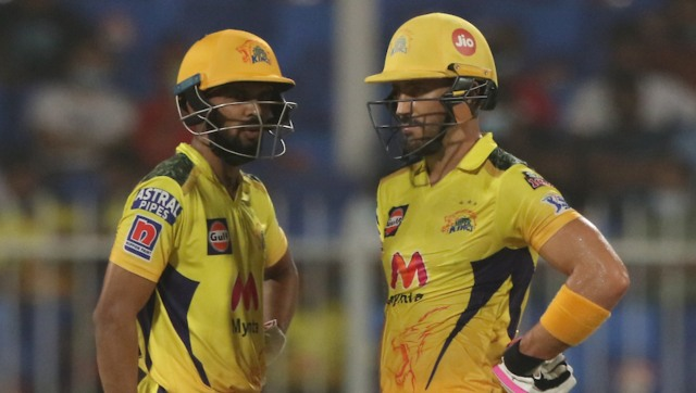 The in-form Ruturaj Gaikwad came good again with a quick 38 while Faf du Plessis made 31 at the top to lay a strong foundation for CSK to chase the modest target in 18.1 overs. Photo by Pankaj Nangia / Sportzpics for IPL