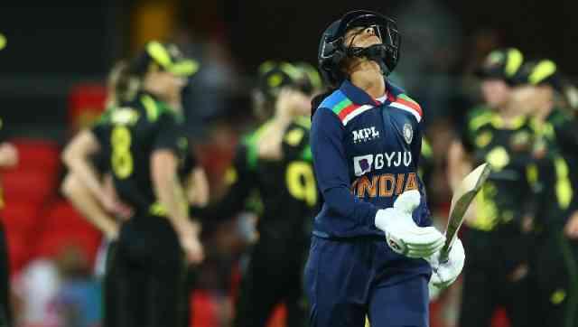 Harmanpreet Kaur during the second T20I against Australia in Gold Coast. Image: Twitter/cricketcomau