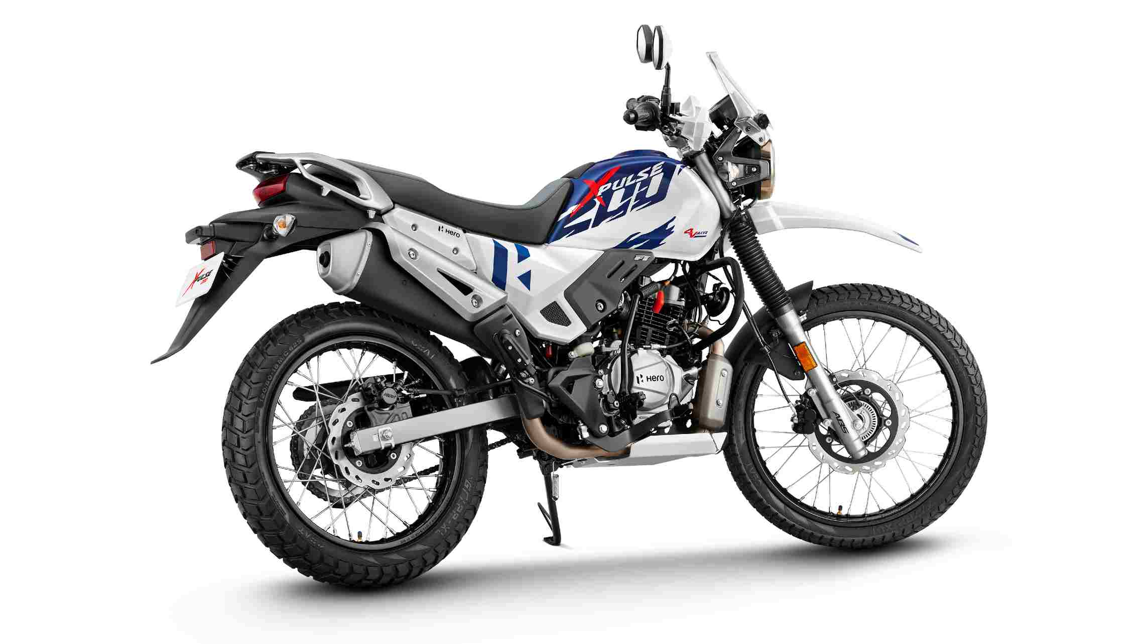 The XPulse 200 4V has one horsepower and one Nm more torque than the two-valve engine variant. Image: Hero MotoCorp