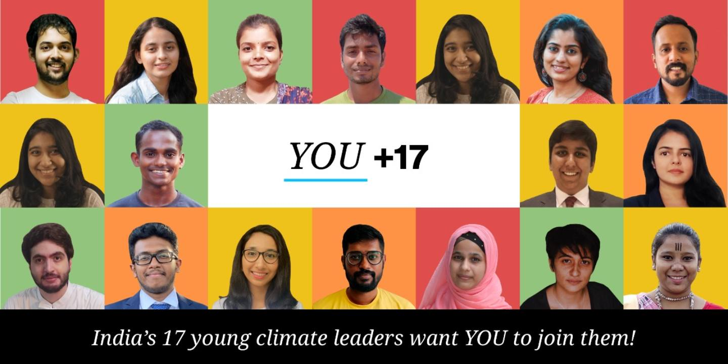 The 17 Indian youth climate leaders to take part in UN's new campaign. Image credit: UN