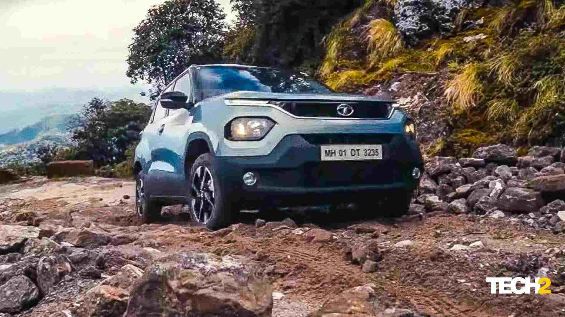 Tata Motors shared a clip of the Punch making its way up the mountain peak of Sandakphu at the unveil. Image: Tata Motors