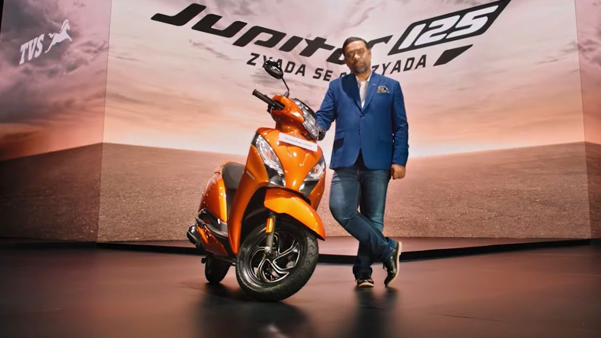 The TVS Jupiter 125 is built on an all-new platform, and utilises a new chassis. Image: TVS