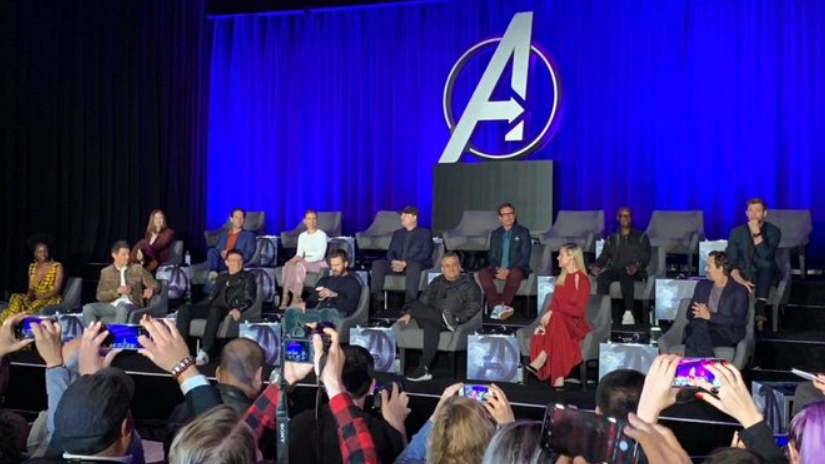 Avengers Endgame press conference leaves empty seats for fallen superheroes as survivors dodge spoilers
