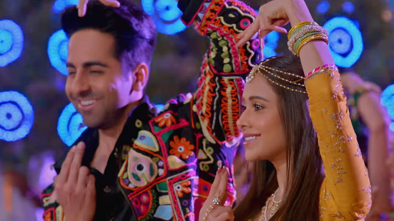 Watch Ayushmann Nushrat Bharucha turn into Krishna Radha for Dream Girl song Radhe Radhe