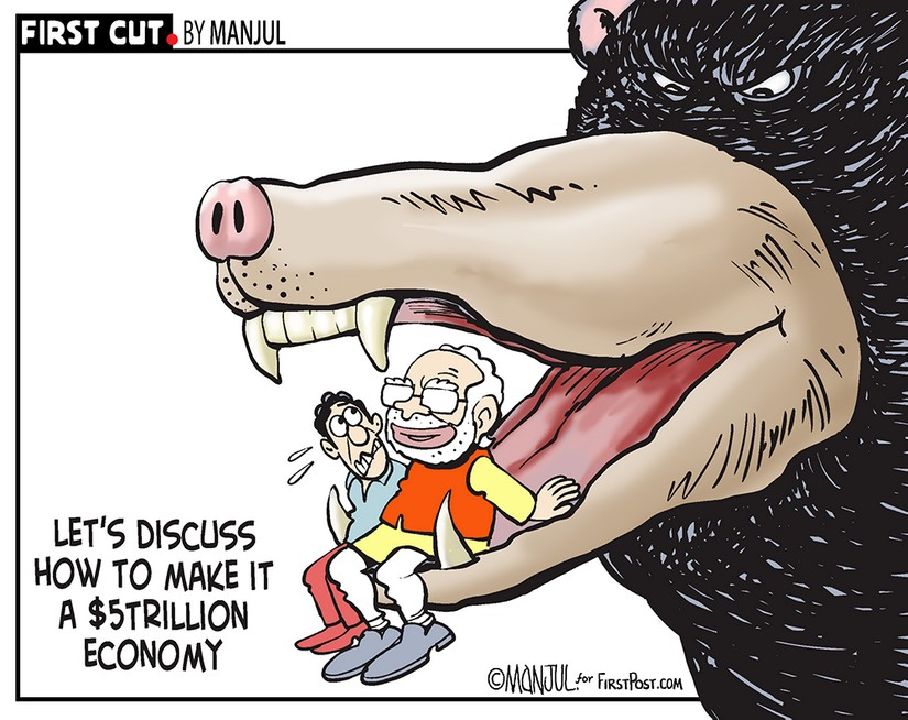 GDP falls to 5 AprilJune data comes as a shocker it is time govt bid adieu to fiscal deficit obsession